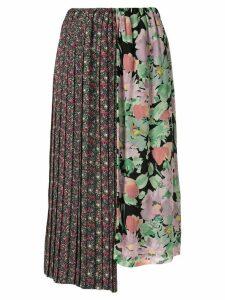 Junya Watanabe asymmetric floral skirt - Multicolour