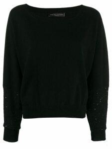 Fabiana Filippi round-neck sweatshirt - Black