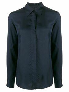 Alberto Biani plain fitted shirt - Blue