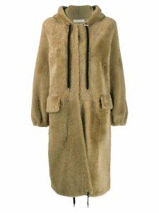 Inès & Maréchal drawstring hood coat - Neutrals