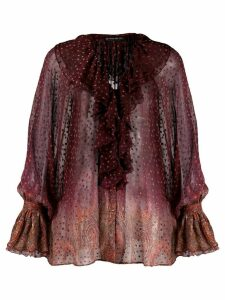 Etro polka dot blouse - Purple