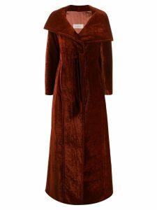 Gentry Portofino oversized velvet coat - Orange