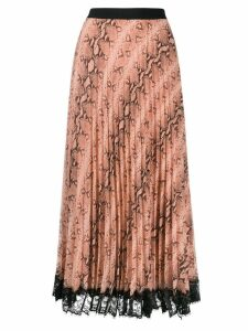 Twin-Set snake print pleated skirt - Pink