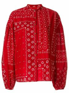 Kolor bandana print shirt - Red