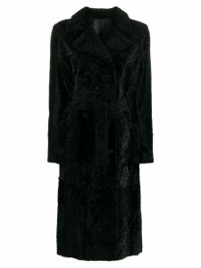 Drome double breasted fur coat - Black