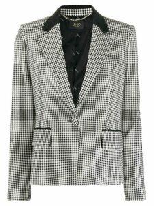 Liu Jo check print blazer - Black