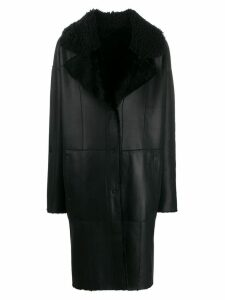 Drome long button up coat - Black