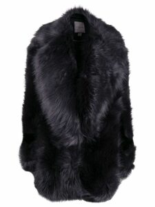Urbancode oversized faux fur coat - Blue