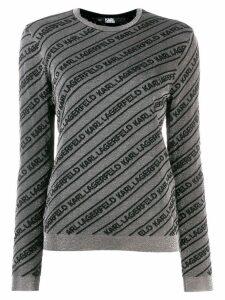 Karl Lagerfeld logo jumper - Grey