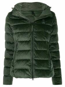 Blauer velvet hooded jacket - Green