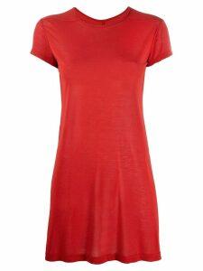Rick Owens silk blend T-shirt - Red