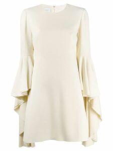 Giambattista Valli ruffle sleeve dress - White