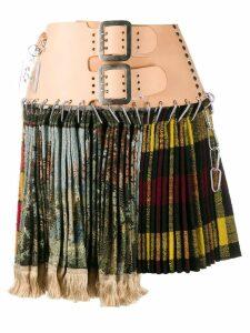 Chopova Lowena buckled waist skirt - Green