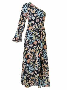 Peter Pilotto printed one shoulder dress - Blue