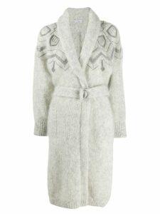 Brunello Cucinelli belted cardi-coat - Grey