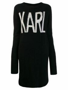 Karl Lagerfeld Karl Oui long jumper - Black