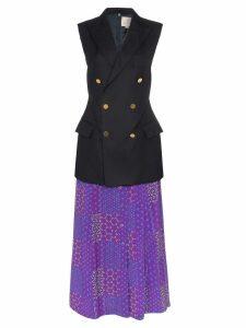 Rentrayage Working Girl sleeveless blazer dress - Multicolour