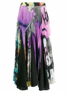 Marques'Almeida satin graffiti skirt - Black
