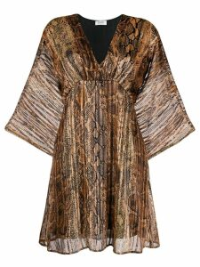LIU JO snake print short dress - NEUTRALS