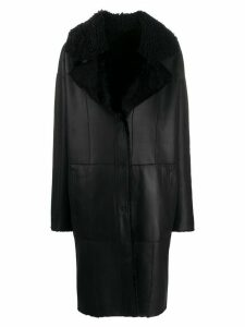 Drome panelled coat - Black