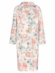 Peter Pilotto bouclé floral jewel button coat - Multicolour
