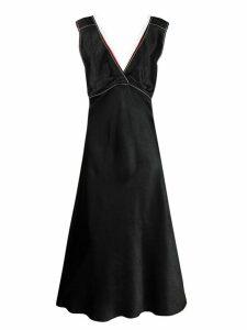 Marni net-trimmed dress - Black
