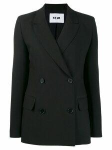 MSGM double-breasted blazer - Black