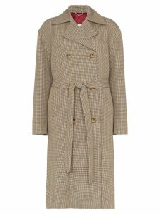 Magda Butrym Hammond check belted coat - Neutrals