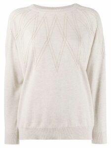 Brunello Cucinelli embellished jumper - Neutrals