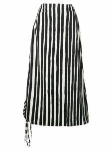 Beaufille striped midi skirt - Black