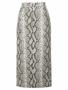 Alexander Wang python print midi skirt - Black