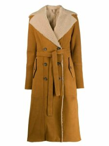 Desa 1972 shearling lined trench coat - NEUTRALS
