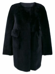 Desa 1972 shearling coat - Blue