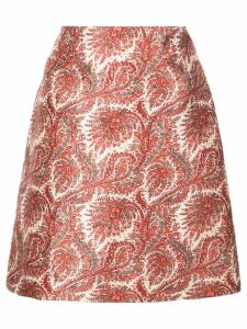 Adam Lippes short paisley skirt - Red