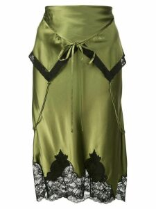 Alexander Wang short foldover-waist skirt - Green