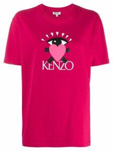 Kenzo Cupid print logo T-shirt - Pink