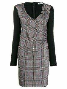 Liu Jo fitted glen check dress - Grey