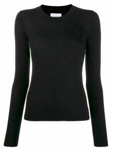 Barrie round-neck cashmere jumper - Black