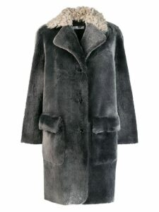 Desa 1972 shearling collar coat - Grey