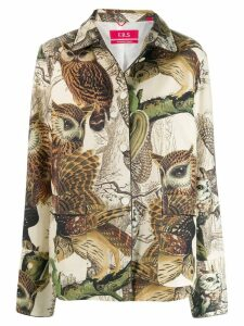 F.R.S For Restless Sleepers owl print jacket - Neutrals