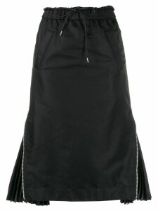 Sacai elasticated waist skirt - Black