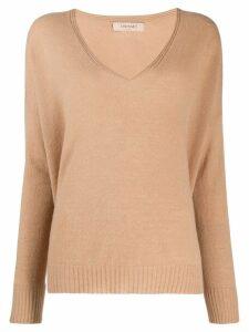 Twin-Set deep v-neck sweater - Brown