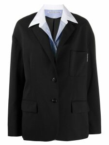 Alexander Wang integrated shirt blazer - Black