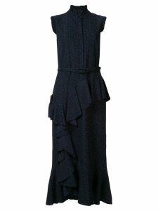 Erdem Irina ruffled midi dress - Black
