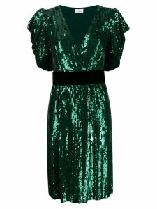 P.A.R.O.S.H. sequin embellished midi dress - Green