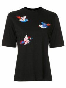 Markus Lupfer sequinned birds T-shirt - Black