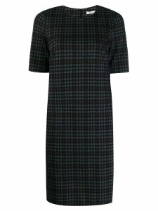 Peserico checked fitted dress - Blue