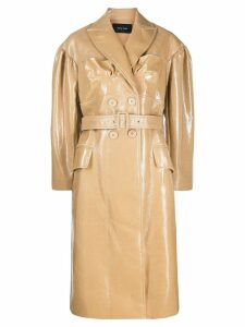 Simone Rocha belted double breasted trench coat - NEUTRALS