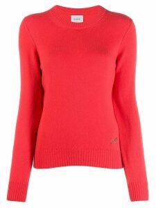 Barrie round neck cashmere jumper - Orange