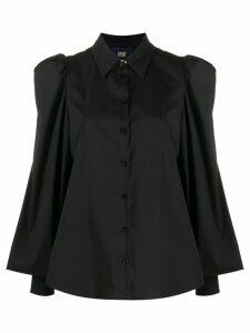 Cavalli Class bell sleeve shirt - Black
